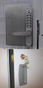 トランクルームの玄関と収納庫の鍵