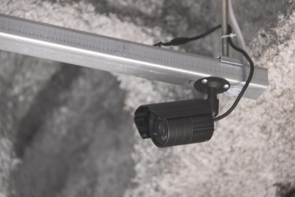 防犯カメラが設置されています